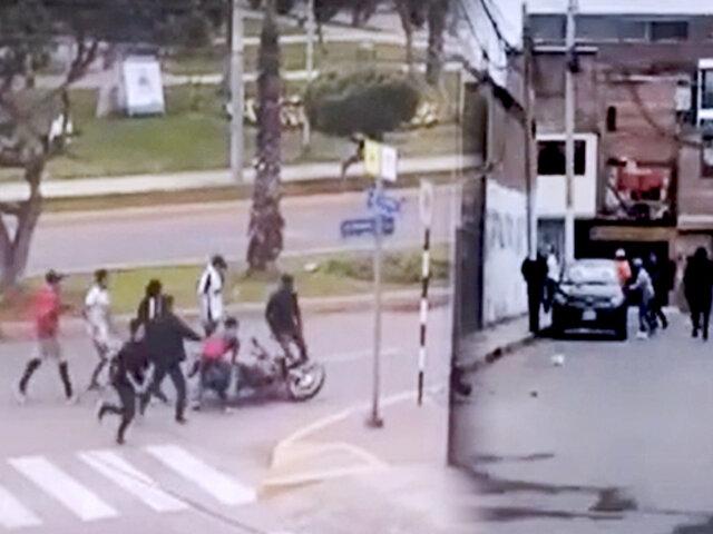 San Miguel: pelea de barristas terminan en vandalismo y robos