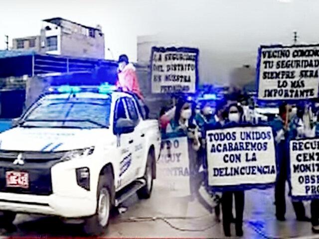 Comas: Serenos se camuflan entre la población para combatir la delincuencia