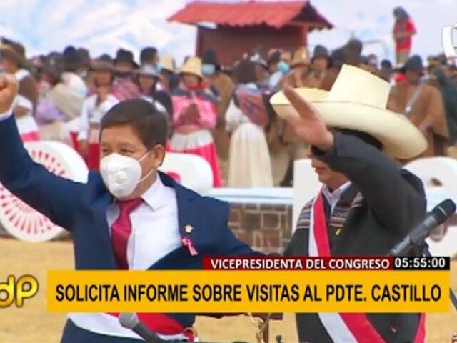 Congreso pide a Premier Bellido informe sobre registro de visitas de presidente Castillo