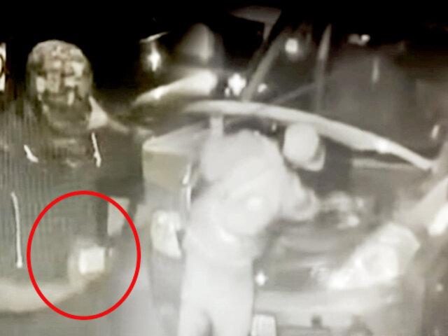 El Agustino: miembros de Serenazgo atrapan a ladrón de autopartes