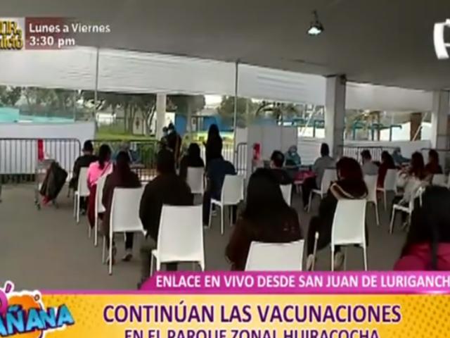 SJL: Así continúa la vacunación para mayores de 40 en el parque Huiracocha