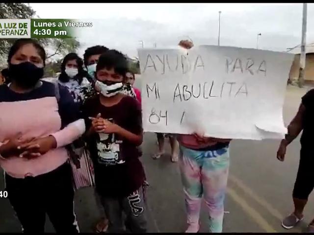 Sullana: ciudadanos de Miguel Checa bloquean carretera para exigir ayuda