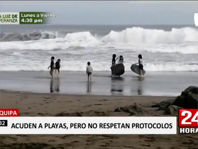 Arequipa: acuden en masa a playas de Mollendo, sin respetar medidas contra COVID-19