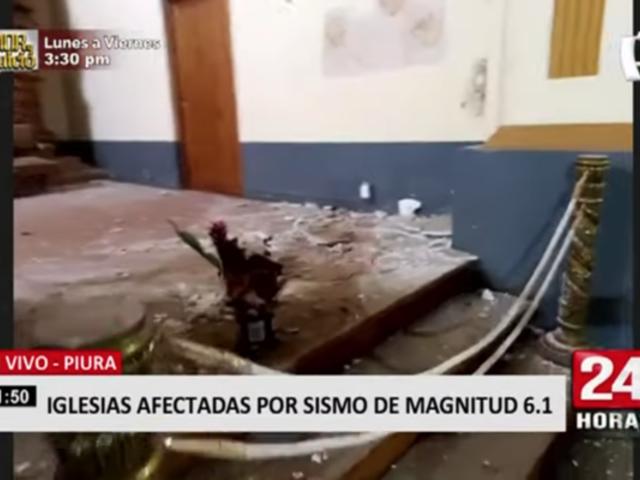 Antiguas iglesias de Piura dañadas tras sismo de 6.1 de magnitud