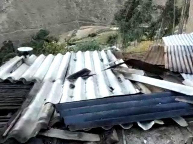 Fuertes vientos arrancaron techos de varias viviendas en la región Áncash