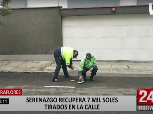 Miraflores: encuentran más de 7 mil soles regados en plena calle Francia
