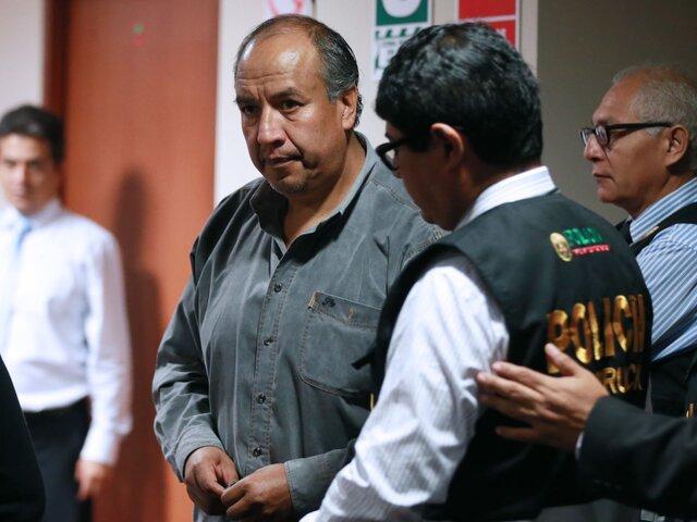 Exgobernador regional de Cusco Jorge Acurio se entrega para cumplir sentencia de 4 años