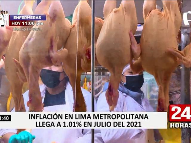Inflación en Lima Metropolitana llegó a 1.01 % en julio, según datos del INEI