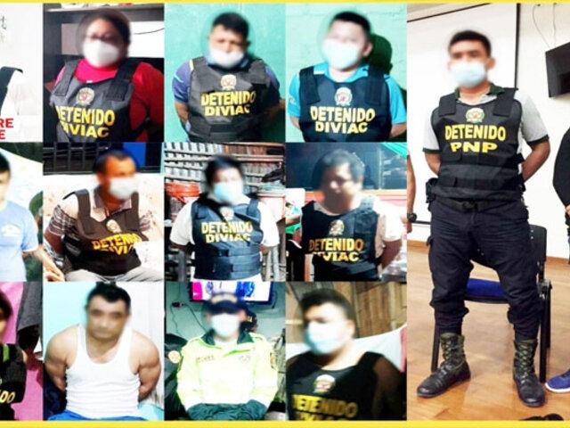 """Encarcelan a 22 presuntos miembros de la organización criminal """"Los remanentes de San Martín"""""""