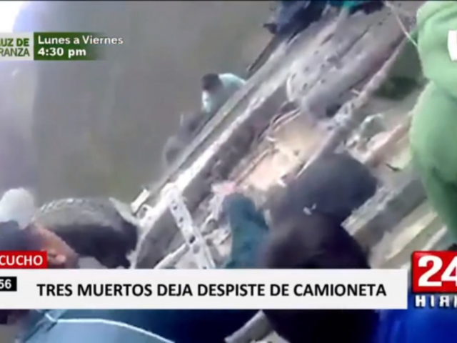 Ayacucho: tres muertos deja despiste de camioneta