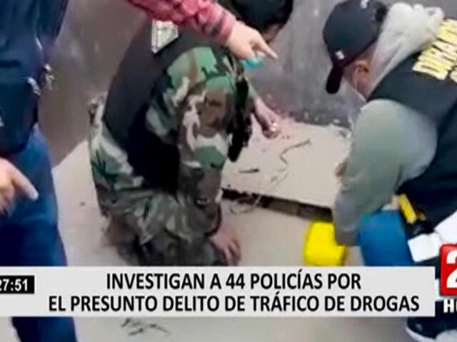 Investigan a 44 policías por el presunto delito de tráfico de drogas