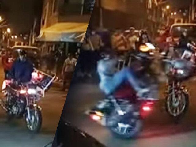 Motociclistas realizan peligrosas maniobras con sus motocicletas en el Callao