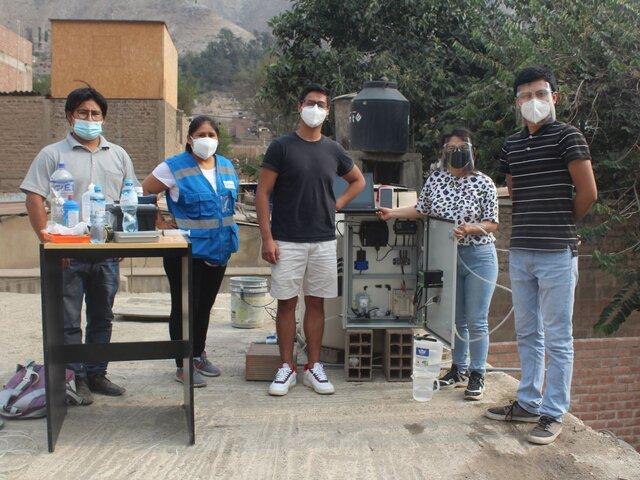 Ingenieros peruanos crean sistema para medir concentración de cloro en agua potable