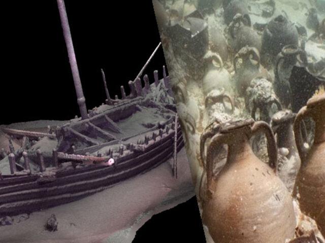 Hallan un barco romano hundido hace 2 mil años