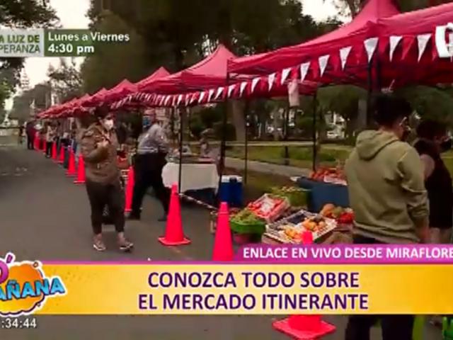 Mercado itinerante en Miraflores: la variedad de frutas, verduras y productos que se ofrecen