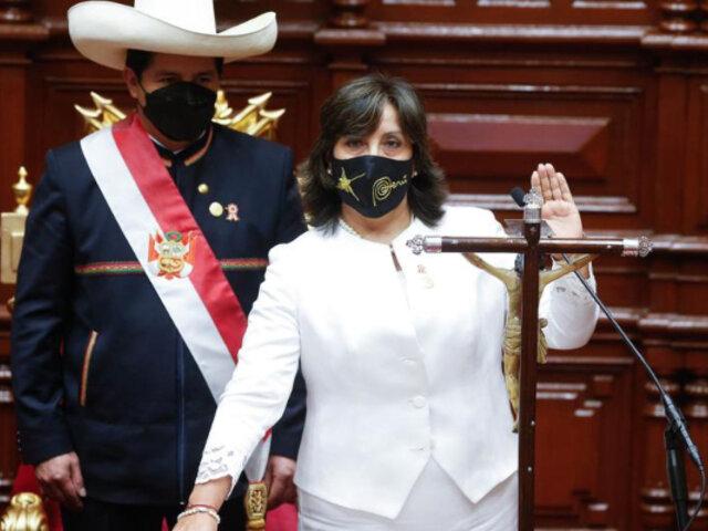 Dina Boluarte pide a la población peruana confiar en gabinete de Guido Bellido