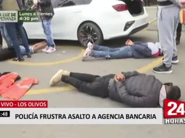 Policía Nacional frustró asalto a agencia bancaria en Los Olivos