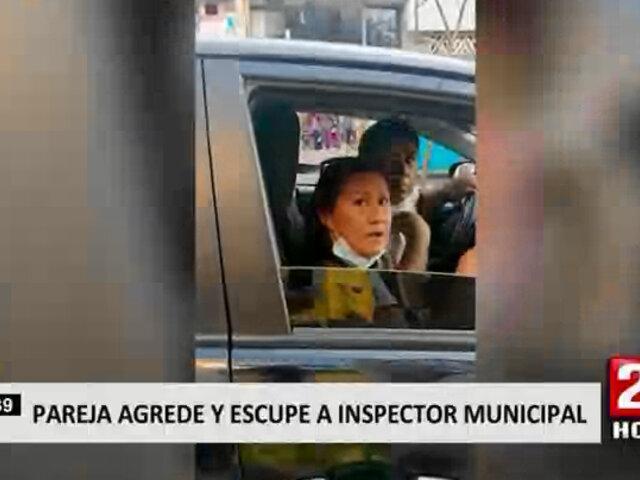 Ica: pareja de conductores agredieron y escupieron a inspector municipal