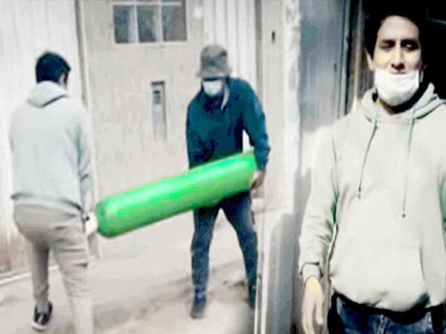 """""""Diablo del oxígeno"""" engañaba con el cuento de la familia enferma de COVID-19 para robar balones"""