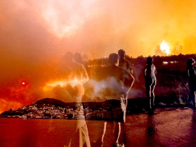 Grecia lucha desde hace una semana contra decenas de incendios por extrema ola de calor