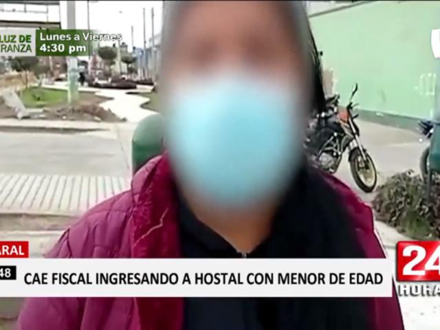 Huacho: detienen a fiscal que llevó a menor a hostal por la fuerza