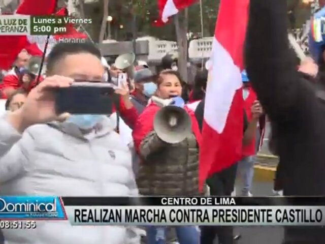 Cercado de Lima: así se desarrolló la marcha contra el Gobierno de Pedro Castillo