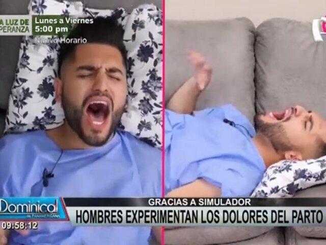 Hombres experimentan dolores de parto mediante simulador y este es el resultado
