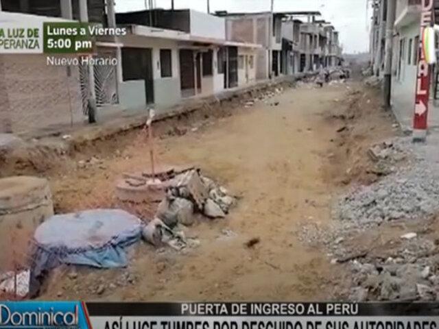 Tumbes: vecinos denuncian obras inconclusas o paralizadas por meses en varias calles y plazas