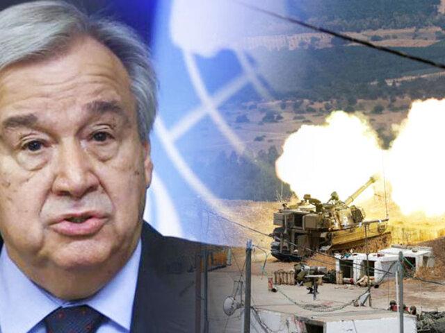 Tensiones entre Líbano e Israel genera preocupación en la ONU
