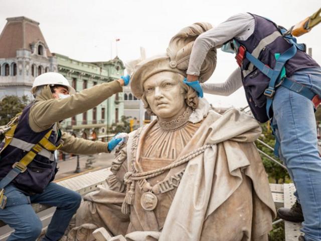 MML culminó labores de restauración del conjunto escultórico del Paseo Colón