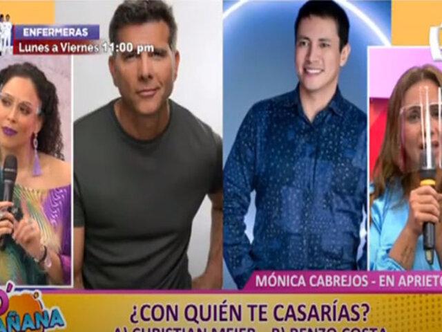 """Picantitas del Espectáculos: Mónica Cabrejos hizo divertidas revelaciones durante la secuencia """"En aprietos"""""""