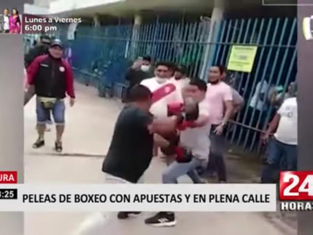 Piura: peleas de boxeo con apuestas y en plena calle