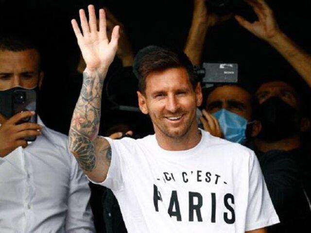 """""""Aquí es París"""": así fue el saludo de Lionel Messi a hinchas franceses"""