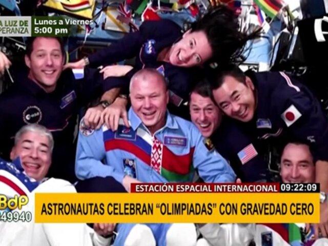 """Astronautas celebraron sus propios """"Juegos Olímpicos"""" en gravedad cero"""