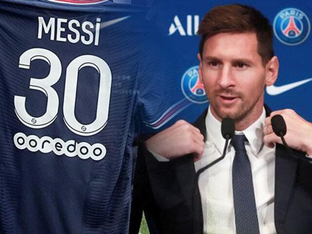 """Lionel Messi en su presentación oficial en PSG: """"Ahora mi felicidad es enorme"""""""