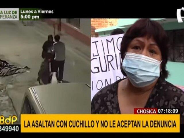 Chosica: asaltan a mujer con cuchillo y no aceptan la denuncia en comisaría