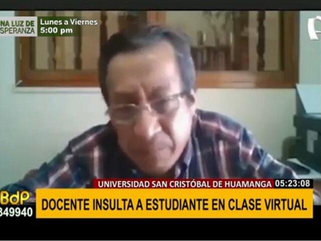 Ayacucho: docente insulta a estudiante en plena clase virtual