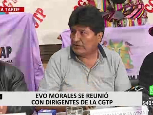 Morales negó que reuniones con diversos personajes de PL signifiquen un acto de intromisión