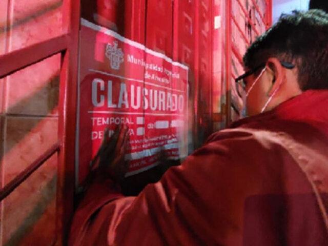 Arequipa: cierran 50 locales de diversión por incumplir protocolos sanitarios contra la Covid-19