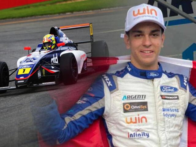 Peruano Matias Zagazeta volvió a ganar en la Fórmula 4 Británica