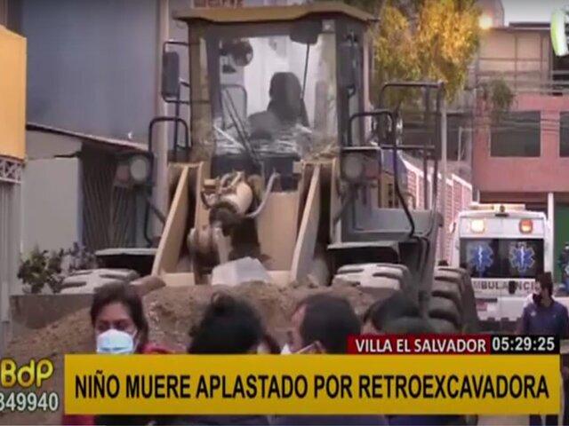 VES: menor fallece tras ser atropellado por retroexcavadora de 40 toneladas