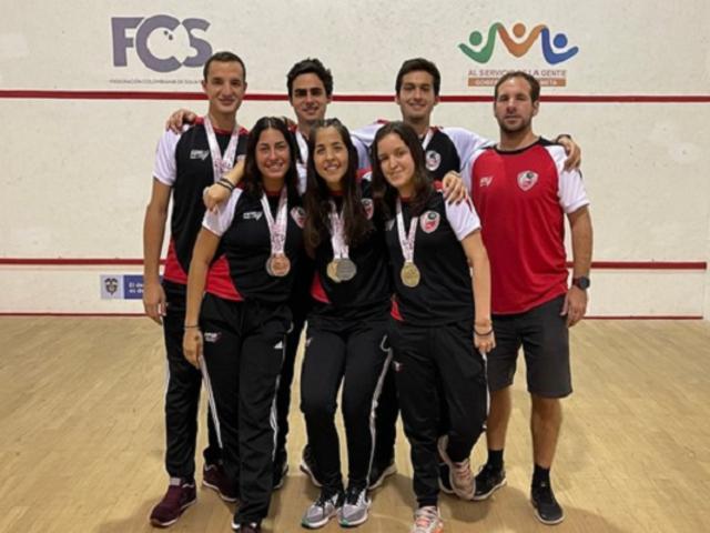 ¡Orgullo peruano! Selección de squash ganó seis medallas en Campeonato Sudamericano Sub 23