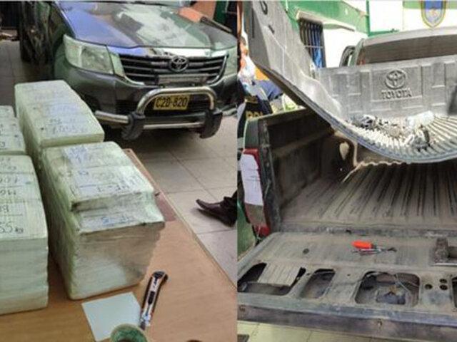 Cusco: intervienen camioneta que trasladaba 96 kilos de cocaína escondidos en tolva y puertas