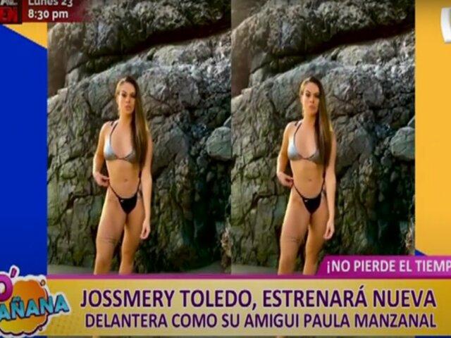 """Picantitas del Espectáculo: Josmery Toledo lista para lucir """"nueva delantera"""" como su amiga Paula Manzanal"""