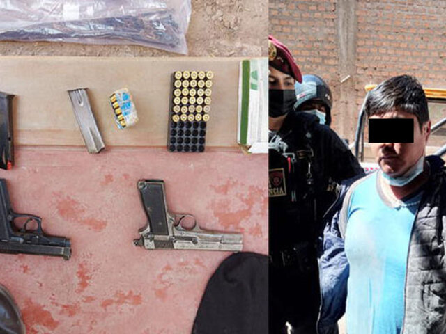 Puno: capturan sujetos fuertemente armados que iban a secuestrar a próspero empresario