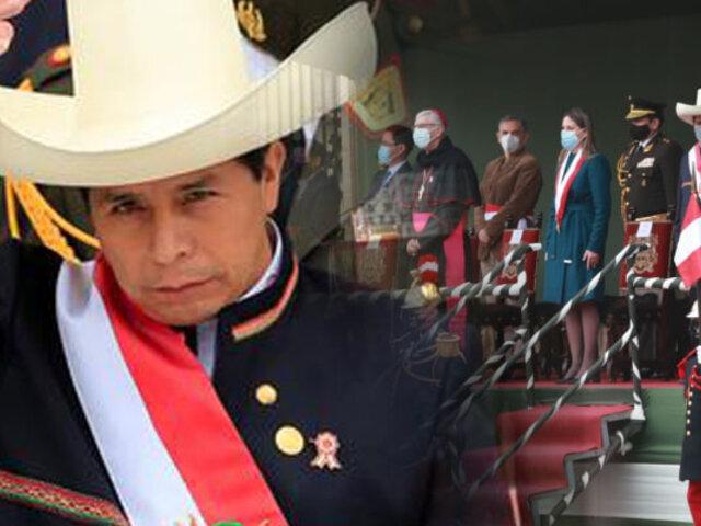 """Castillo: """"El pueblo peruano estará siempre del lado de las Fuerzas Armadas"""""""
