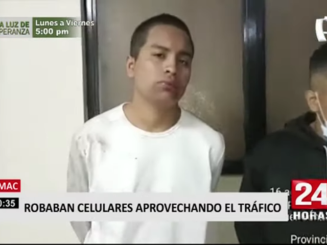 Rímac: caen ladrones que aprovechaban tráfico para robar celulares