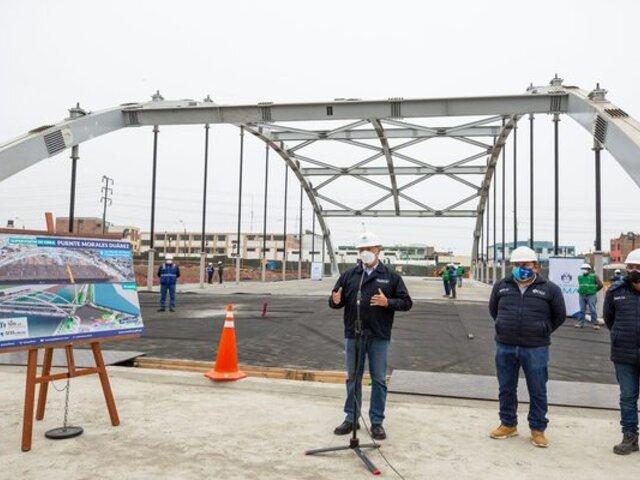 Obras del puente Morales Duárez presentan un avance del 88 por ciento