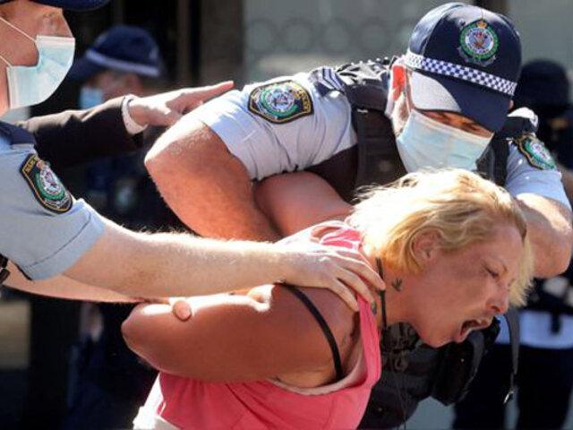 Australia: cientos de detenidos tras violentas protestas contra el confinamiento por Covid-19