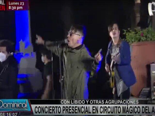 Realizan primer concierto presencial en el Circuito Mágico del Agua
